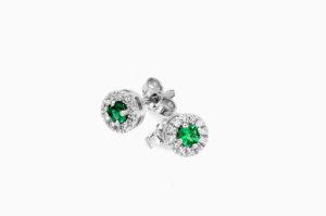 orecchino smeraldi Colori Preziosi