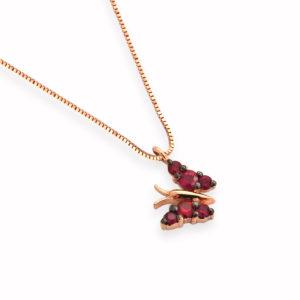 ciondolo farfallina rubino