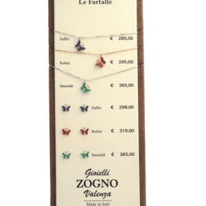 espositore farfalline Zogno Gioielli