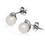 orecchini perla Giappone con diamante kit z4