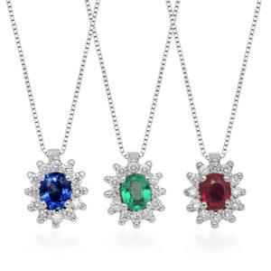 Insieme ciondoli con diamanti Zogno Gioielli