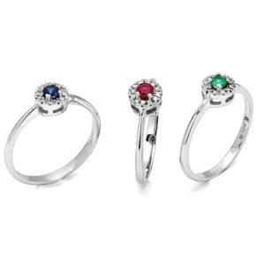 insieme anelli Colori Preziosi