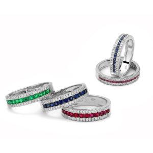 vista anelli in oro e diamanti_